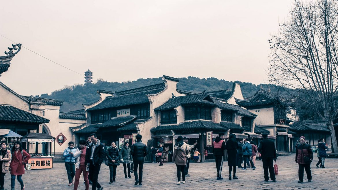 Huishan old town in Wuxi's Huishan national forest park, China