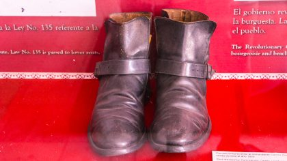 Che Guevara's military boots