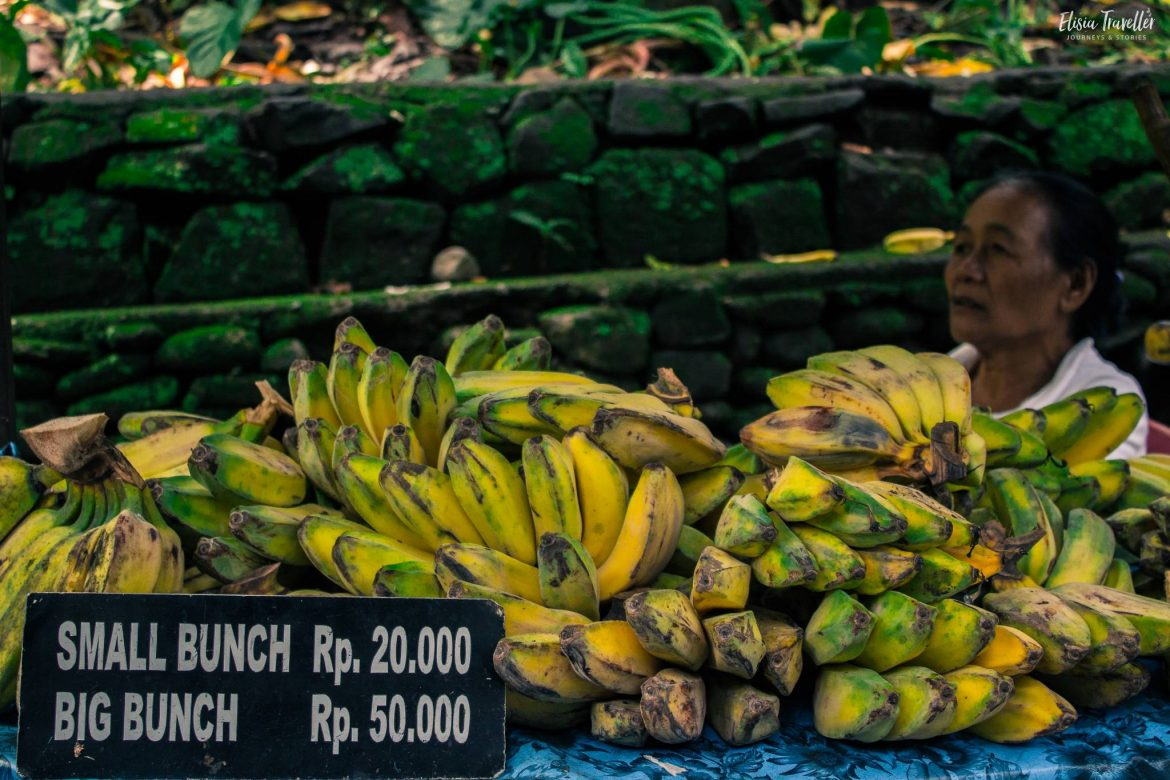 Banana stall in the Monkey Forest