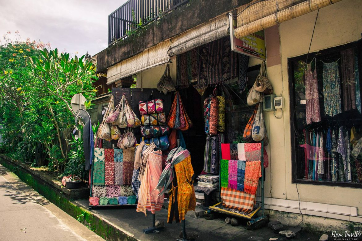 a boutique in Ubud